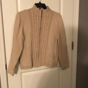 Karen Scott beige sweater